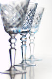Crystal goblets Stock Image