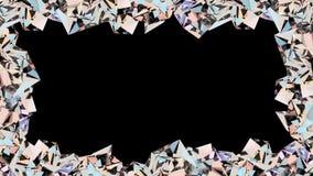 Crystal gränsöglasanimering stock illustrationer