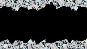 Crystal gränsöglasanimering royaltyfri illustrationer