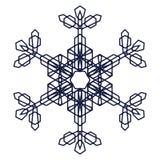 Crystal Graphic Snowflake Foto de archivo libre de regalías