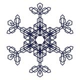 Crystal Graphic Snowflake Royalty Free Stock Photo