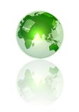 Crystal Green Earth. An illustration of green Earth with crystal effect Stock Image