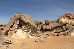 Crystal Grotto off the White Desert in the Sahara of Egypt Royalty Free Stock Image