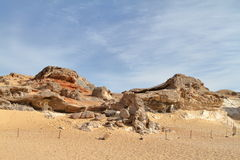Crystal Grotto off the White Desert in the Sahara of Egypt Stock Images