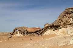Crystal Grotto off the White Desert in the Sahara of Egypt Royalty Free Stock Photos