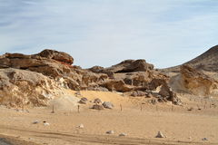 Crystal Grotto off the White Desert in the Sahara of Egypt Stock Image