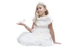 crystal häftklammermatare Royaltyfria Bilder