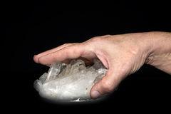 Crystal hand Fotografering för Bildbyråer