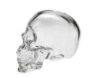 Crystal head bottle Royalty Free Stock Photos