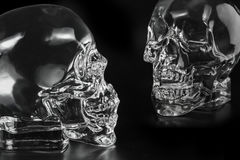 Crystal head bottle Royalty Free Stock Image