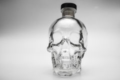 Crystal head bottle Royalty Free Stock Photo