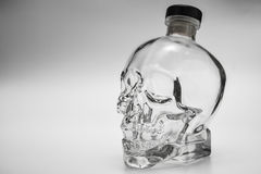 Crystal head bottle Royalty Free Stock Images