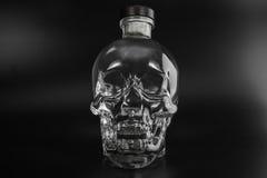 Crystal head bottle Stock Photo
