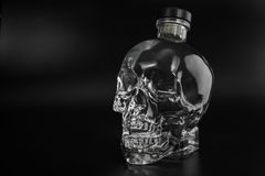 Crystal head bottle Royalty Free Stock Photography