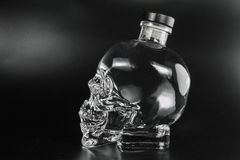 Crystal head bottle Stock Photos