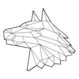 Crystal Head Line Drawing canin illustration de vecteur