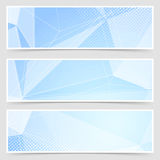 Crystal header collection templates set design Stock Images