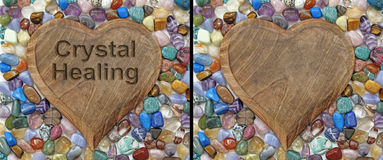 Crystal Healing Plaque stock photo