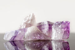 Crystal healing Stone amethyst, uncut. Concept therapie and engery Stock Photography