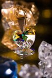Crystal heart Stock Image