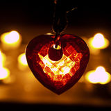 Crystal heart. Heart in crystal form under candle light Royalty Free Stock Photos