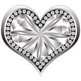 Crystal heart Stock Photos