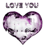 Crystal heart Stock Images