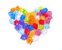 Crystal heart. On white background that are very colorful Stock Photo