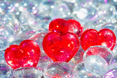 Crystal Heart Stock Foto's