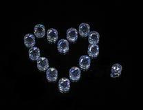 Crystal Heart Foto de archivo libre de regalías