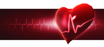 Crystal heart. Royalty Free Stock Photo