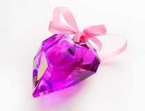 Crystal Heart en cadeau Photos stock