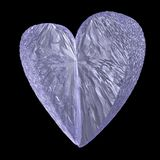 Crystal heart Royalty Free Stock Photos