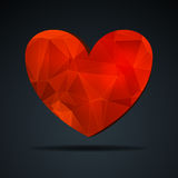 Crystal Heart vermelho Ilustração Royalty Free