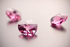 Crystal hearts. Royalty Free Stock Photos