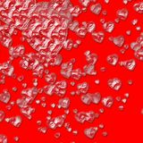 Crystal hearts background Stock Images