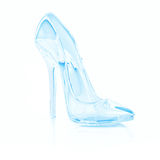 Crystal high heel. On white Stock Photo