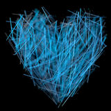 Crystal hjärta Arkivbild