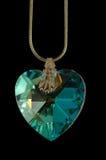 crystal hjärta Arkivfoto