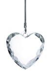 crystal hjärta Arkivfoton
