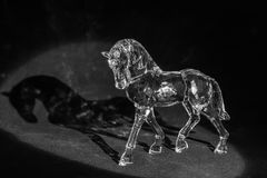 Crystal horse Royalty Free Stock Images