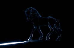 The Crystal horse in the moonlight Stock Photo