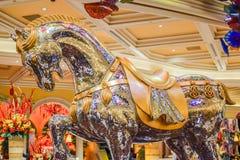 Crystal Horse på Bellagio Arkivfoton