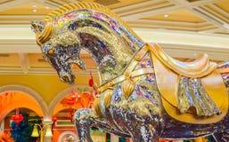Crystal Horse på Bellagio Fotografering för Bildbyråer