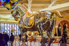 Crystal Horse på Bellagio Arkivbild
