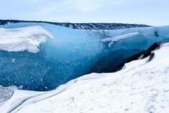 Crystal Ice Cave près de Jokulsarlon photo stock