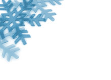 Crystal ice snowflake background Stock Image