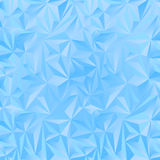 Crystal ice triangles blue background Stock Photography