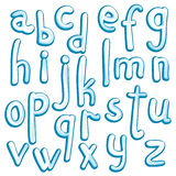 Crystal ice type font alphabet. Collection of ice frozen letters. Stock vector illustration for your headlines, posters etc stock illustration