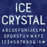 Crystal ice type font. Vector Alphabet. Royalty Free Stock Image